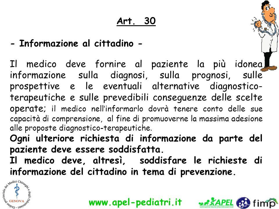 - Informazione al cittadino -