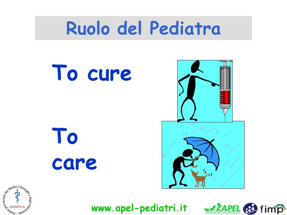 Ruolo del Pediatra To cure To care