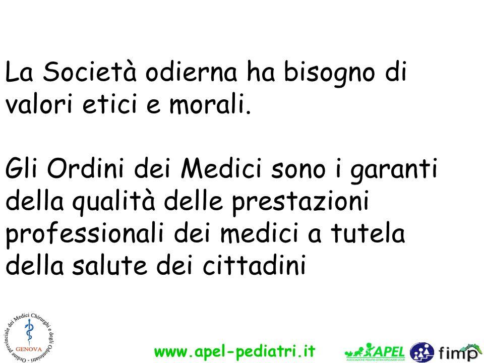 La Società odierna ha bisogno di valori etici e morali.