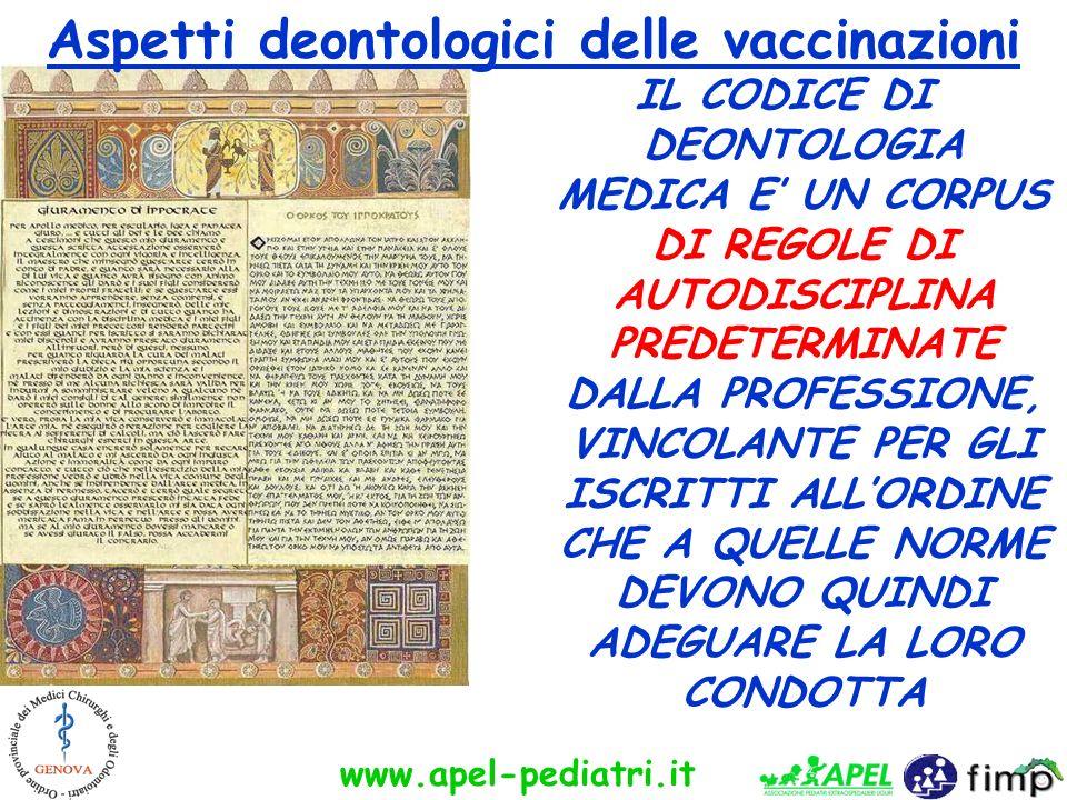 Aspetti deontologici delle vaccinazioni