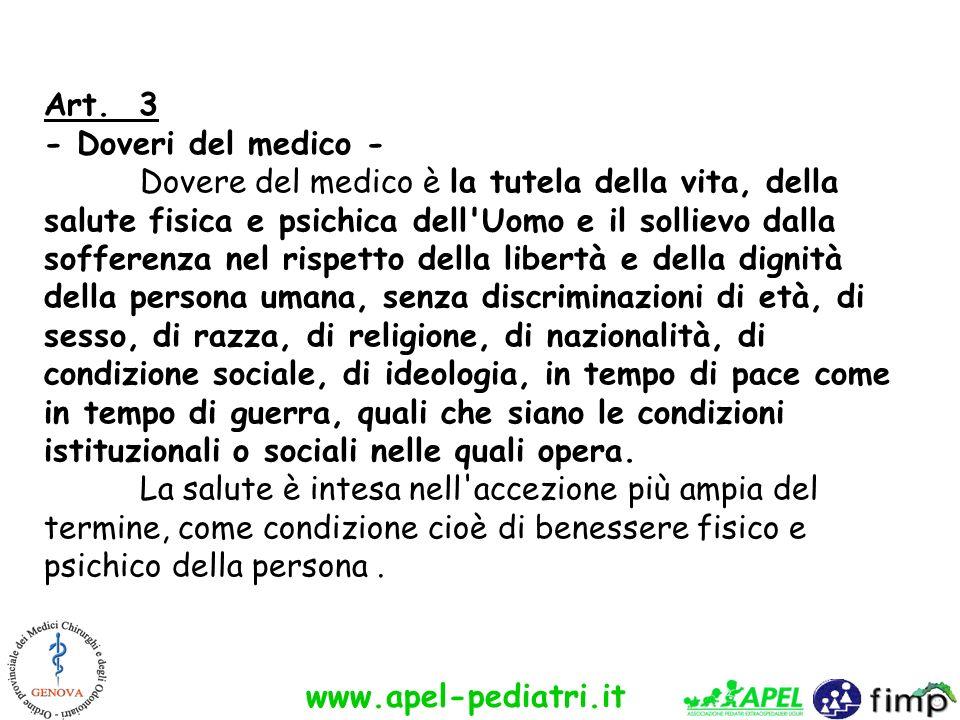 Art. 3 - Doveri del medico -