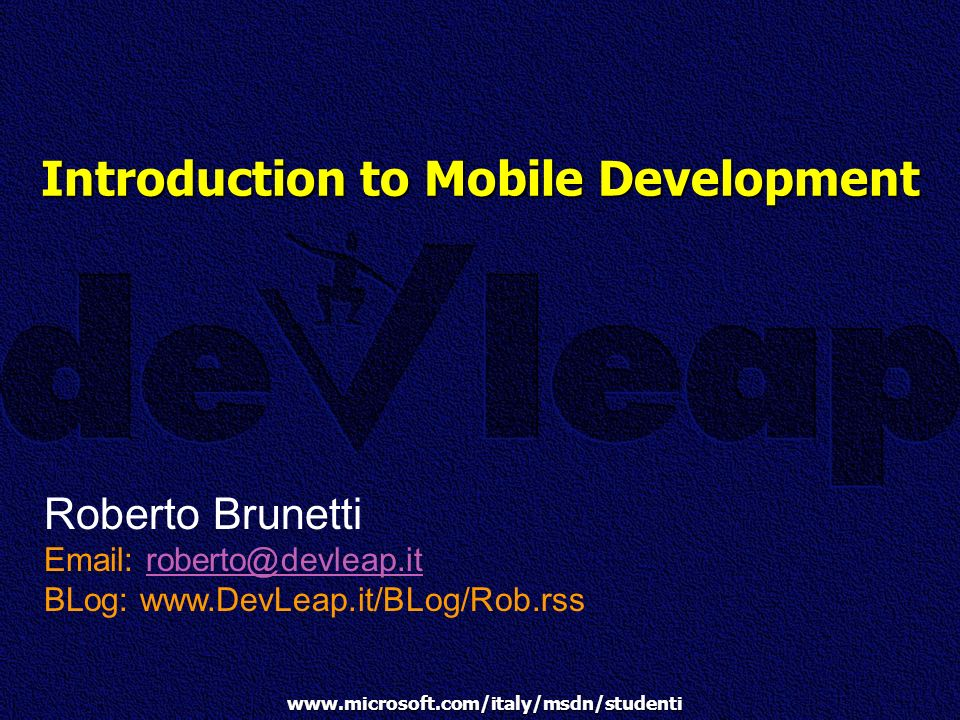 Introduction to Mobile Development
