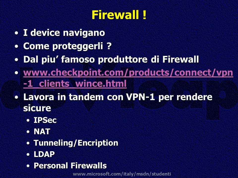 Firewall ! I device navigano Come proteggerli