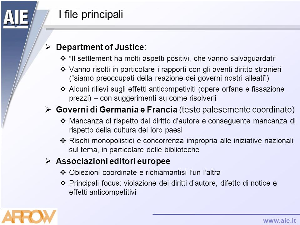 I file principali Department of Justice:
