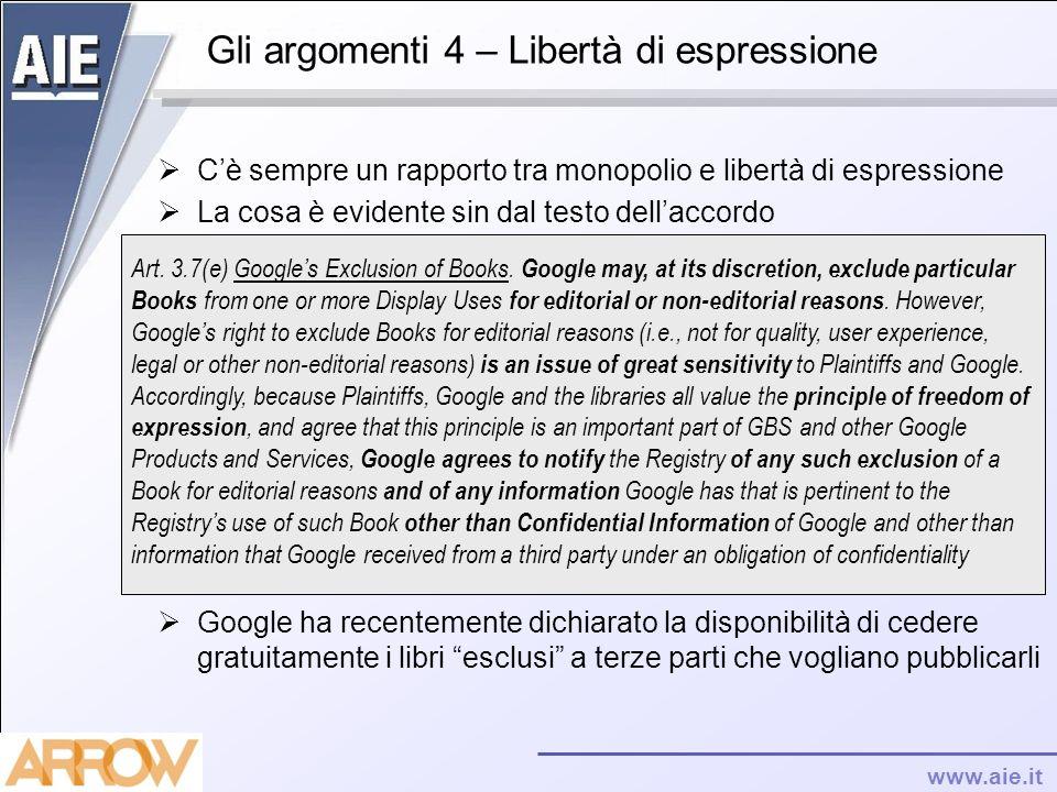 Gli argomenti 4 – Libertà di espressione
