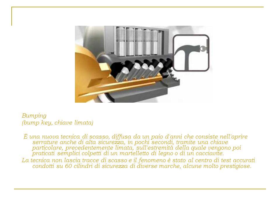 Bumping (bump key, chiave limata)