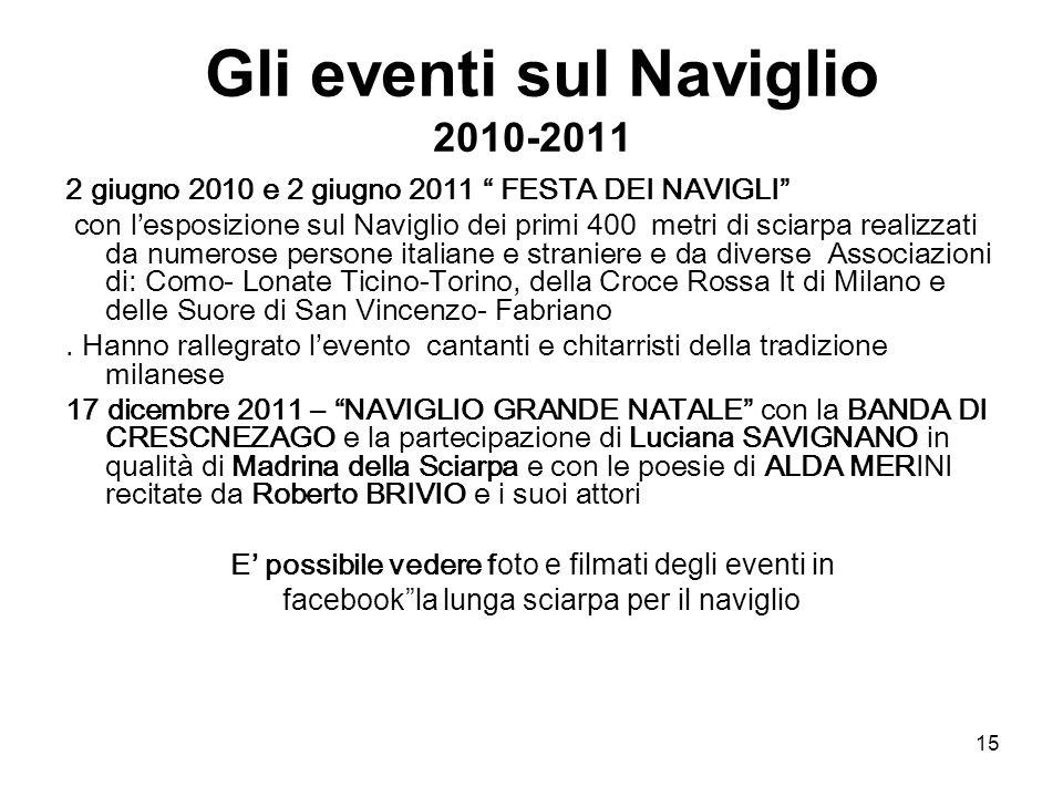 Gli eventi sul Naviglio 2010-2011