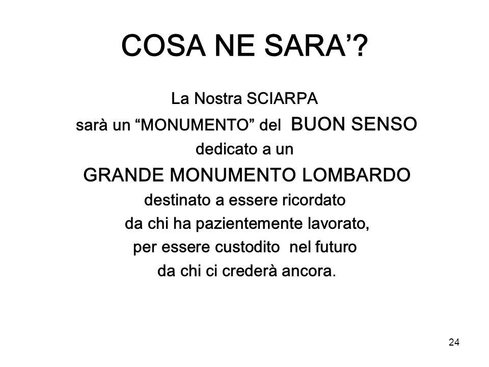 COSA NE SARA' La Nostra SCIARPA sarà un MONUMENTO del BUON SENSO