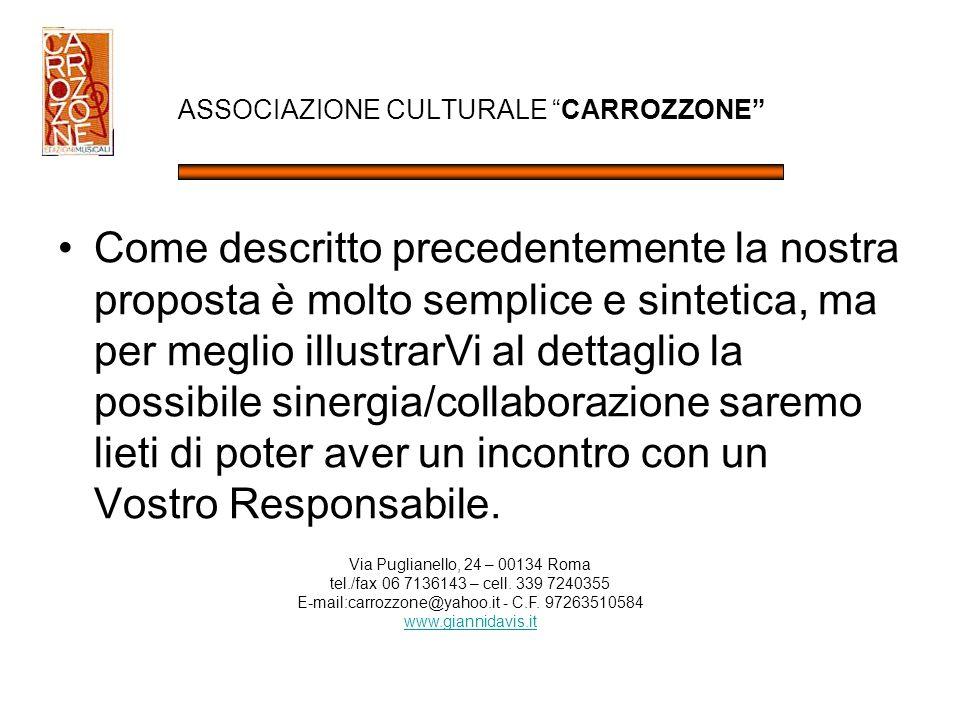 ASSOCIAZIONE CULTURALE CARROZZONE