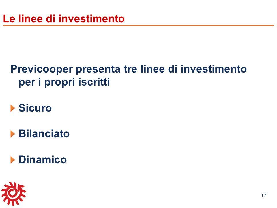 Le linee di investimento
