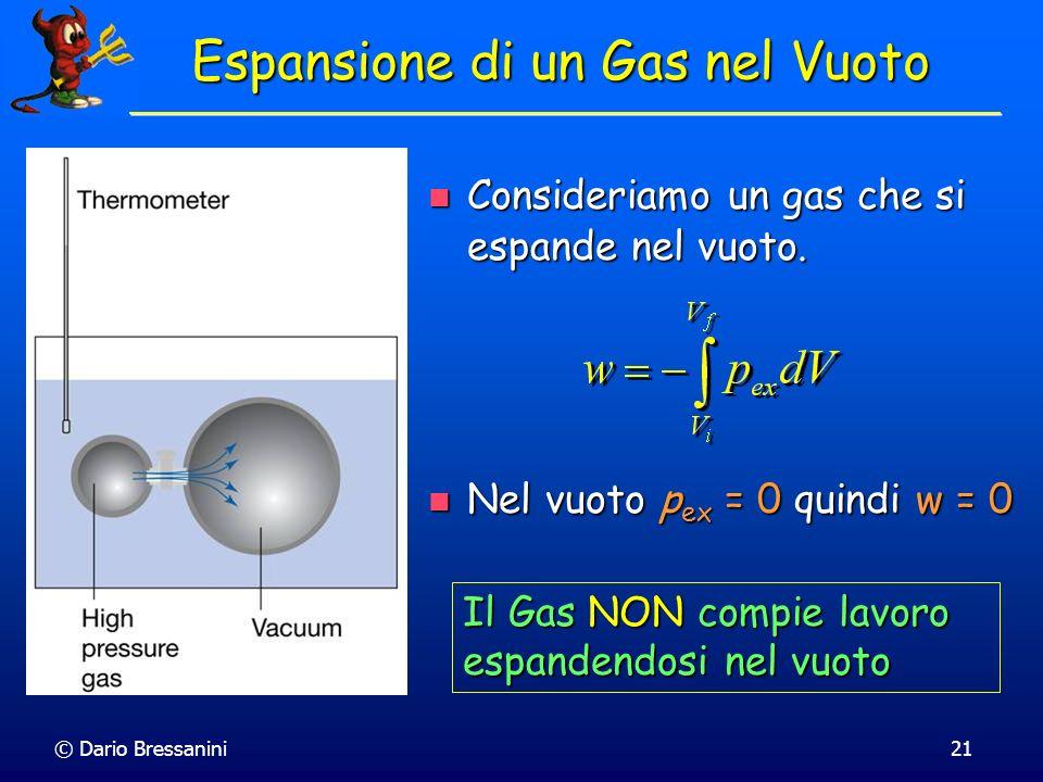 Espansione di un Gas nel Vuoto
