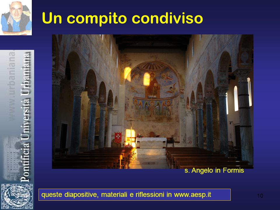 Un compito condiviso s. Angelo in Formis