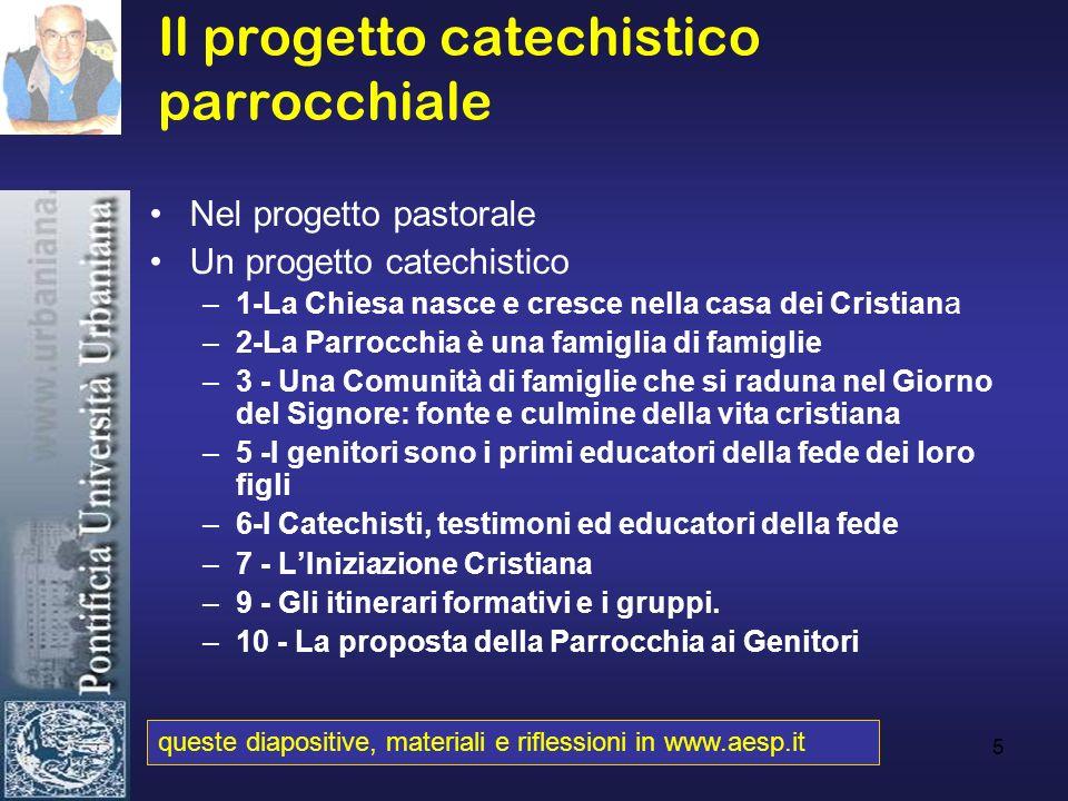 Il progetto catechistico parrocchiale