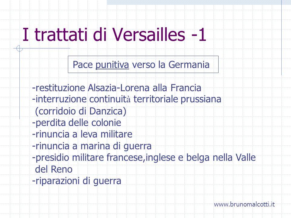 I trattati di Versailles -1