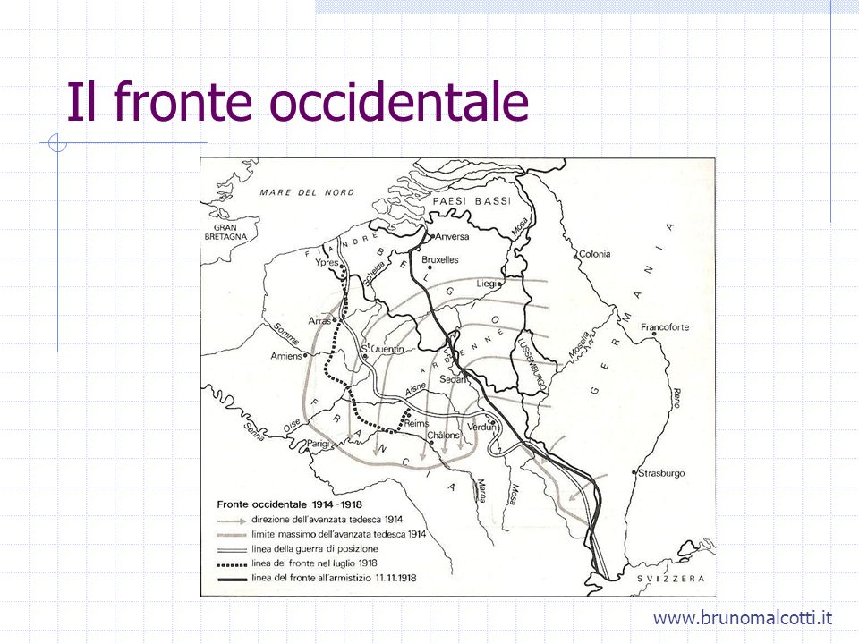 Il fronte occidentale www.brunomalcotti.it