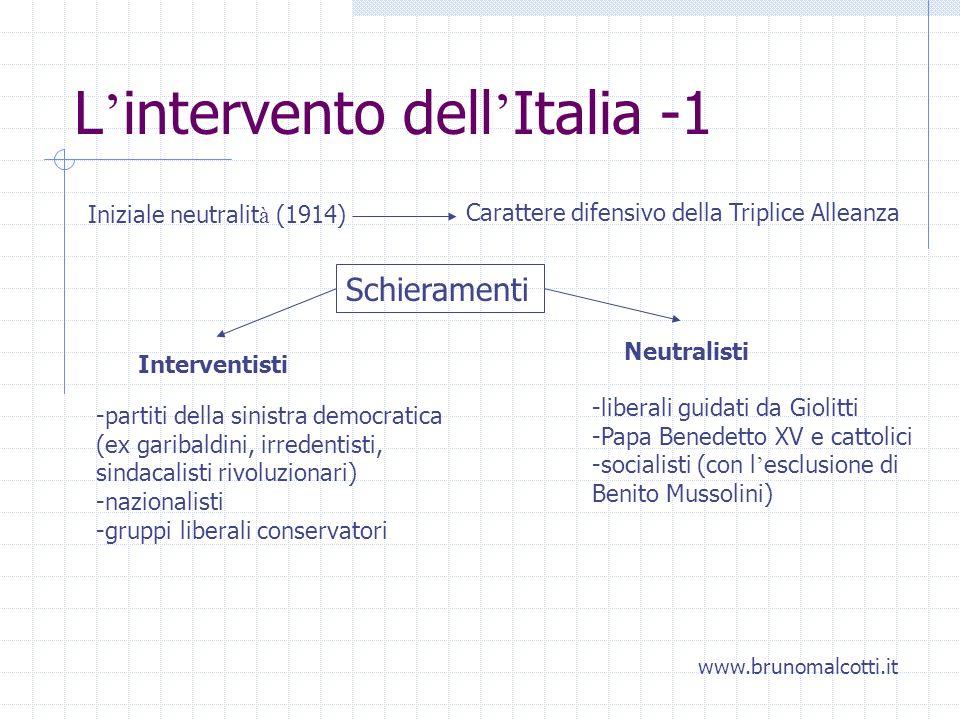 L'intervento dell'Italia -1
