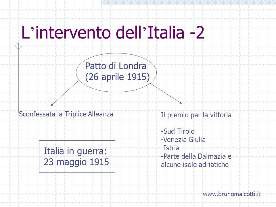 L'intervento dell'Italia -2