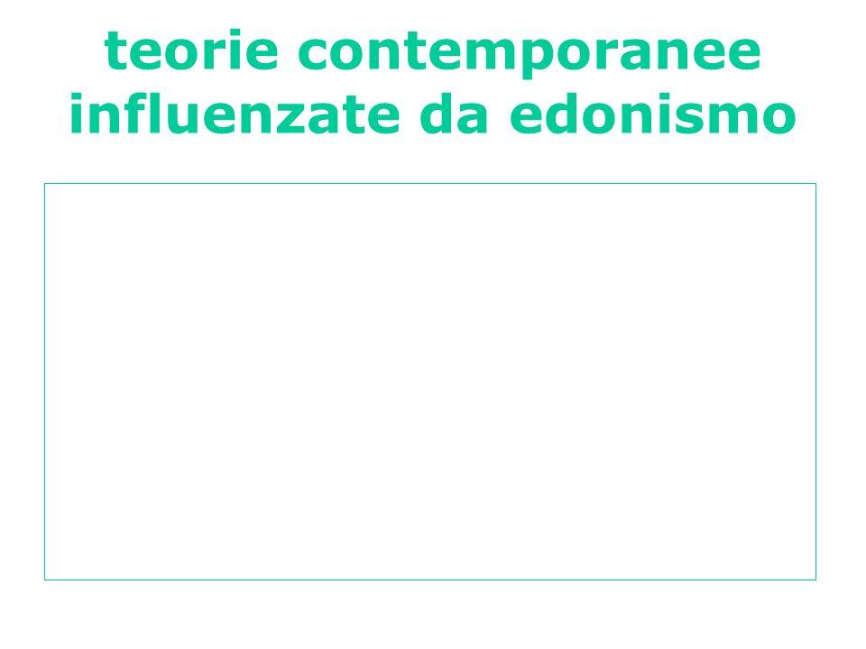 teorie contemporanee influenzate da edonismo