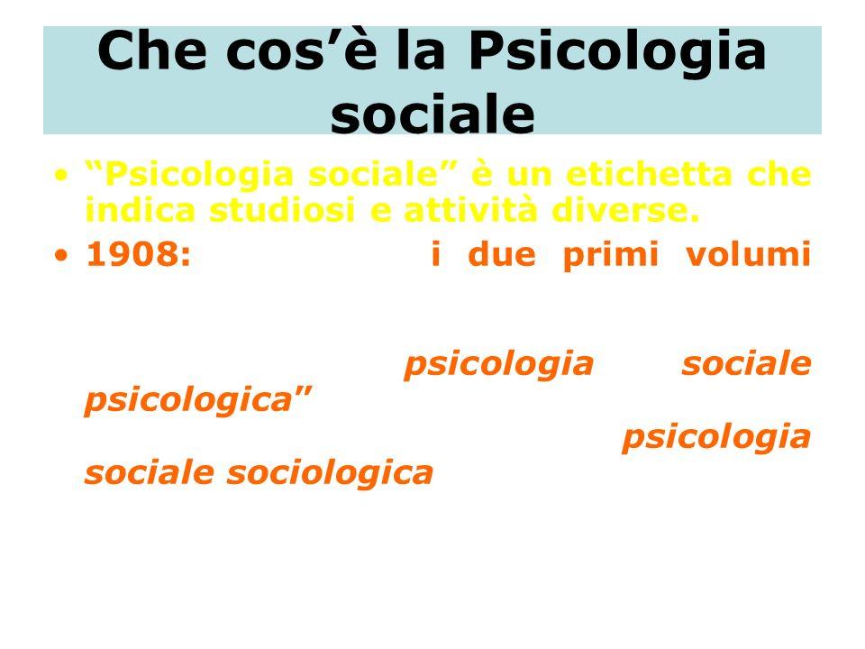 Che cos'è la Psicologia sociale