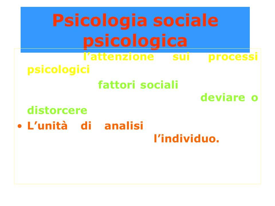Psicologia sociale psicologica