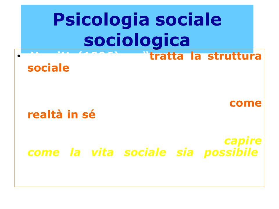 Psicologia sociale sociologica