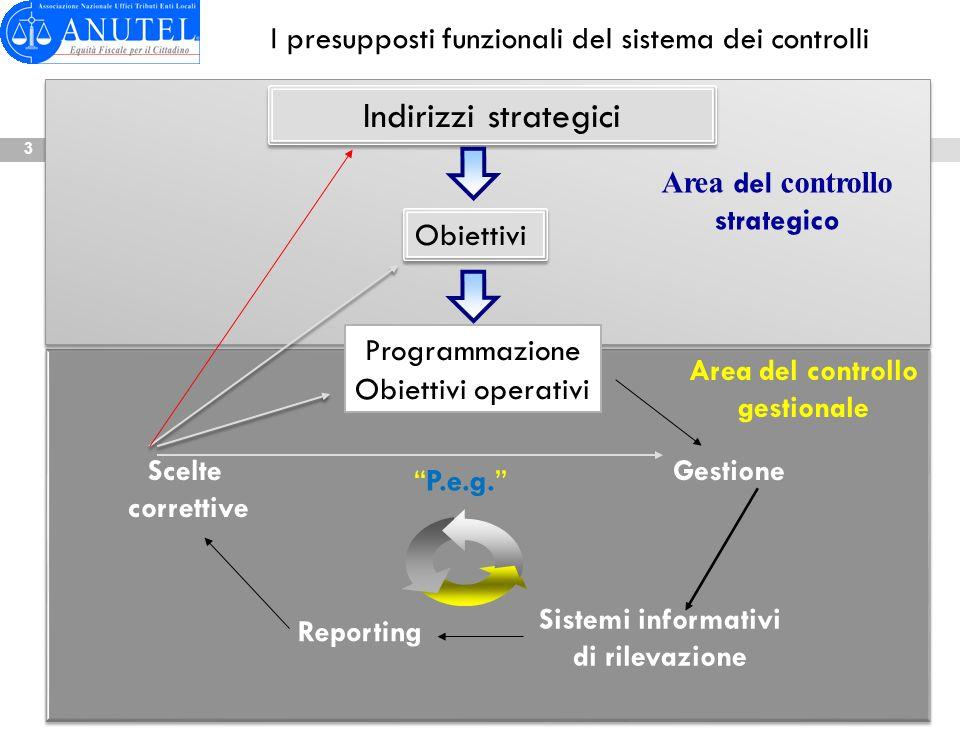 I presupposti funzionali del sistema dei controlli