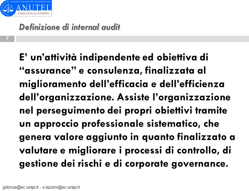 Definizione di internal audit