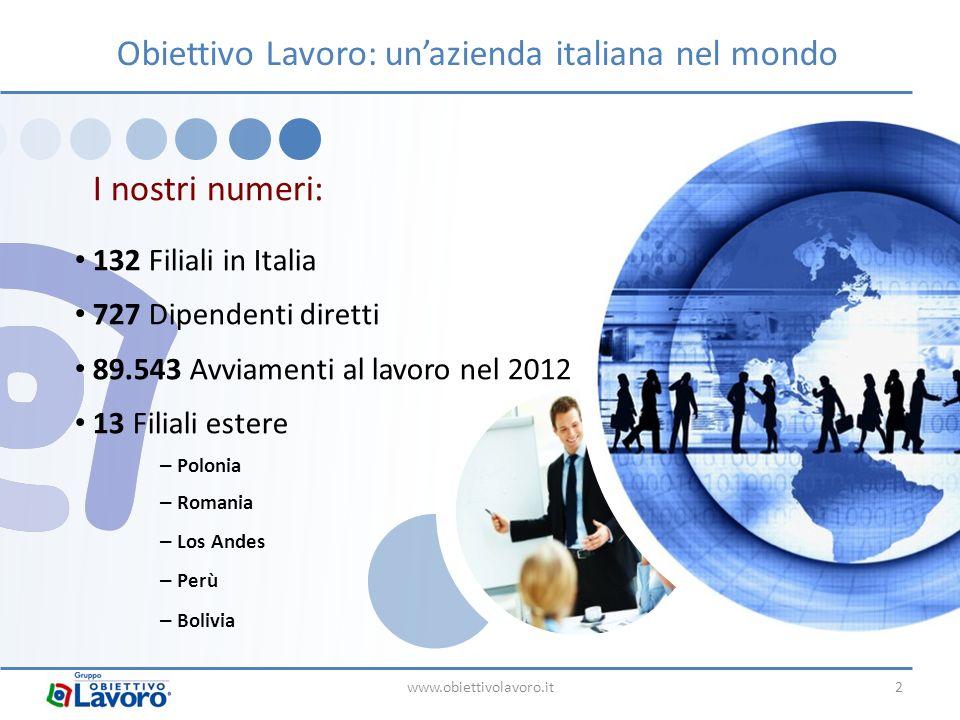 Obiettivo Lavoro: un'azienda italiana nel mondo