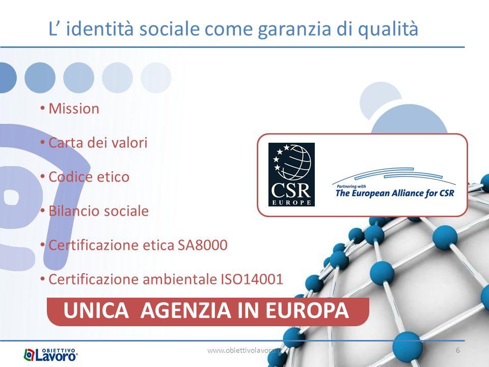 L' identità sociale come garanzia di qualità