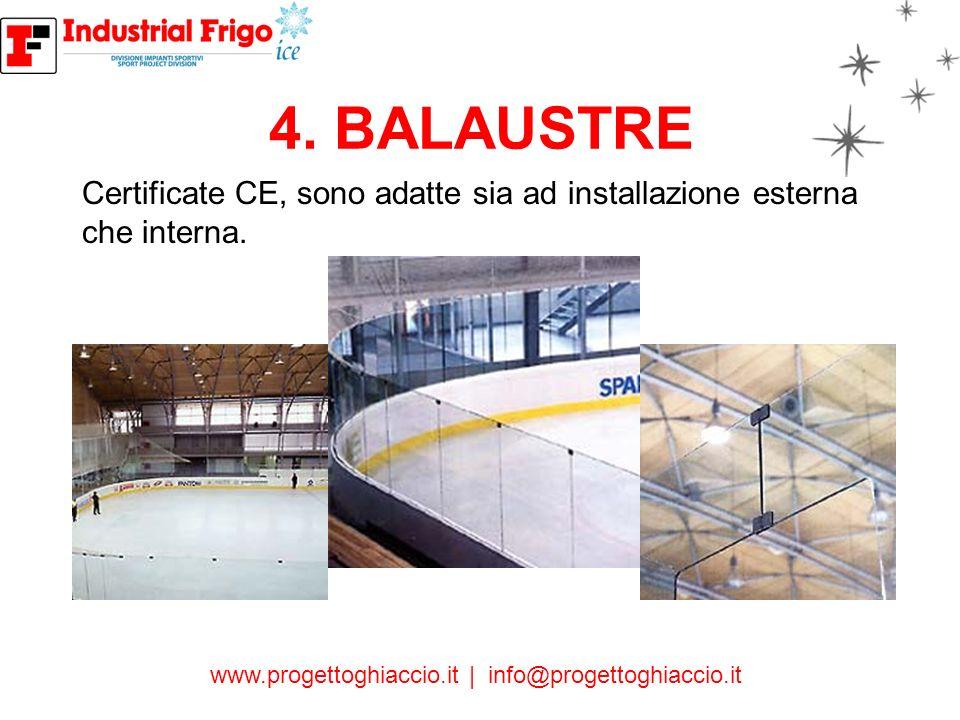 4. BALAUSTRE Certificate CE, sono adatte sia ad installazione esterna che interna.
