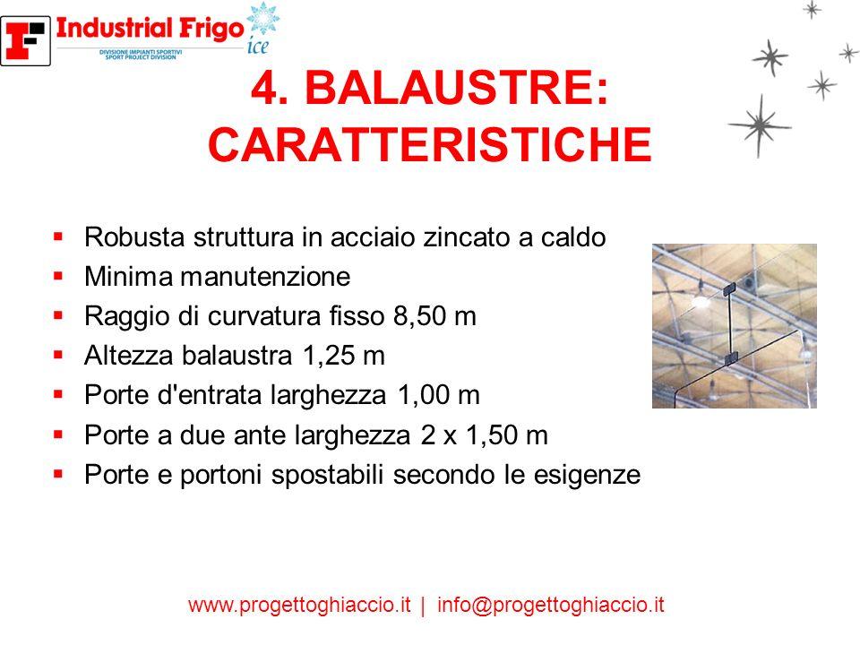 4. BALAUSTRE: CARATTERISTICHE