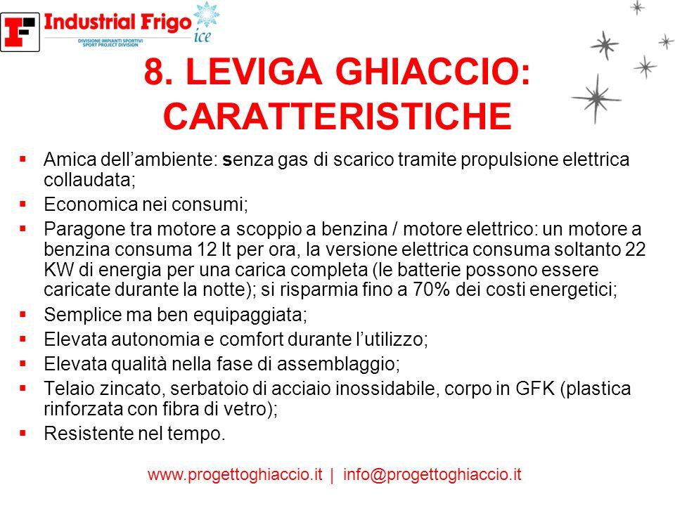 8. LEVIGA GHIACCIO: CARATTERISTICHE