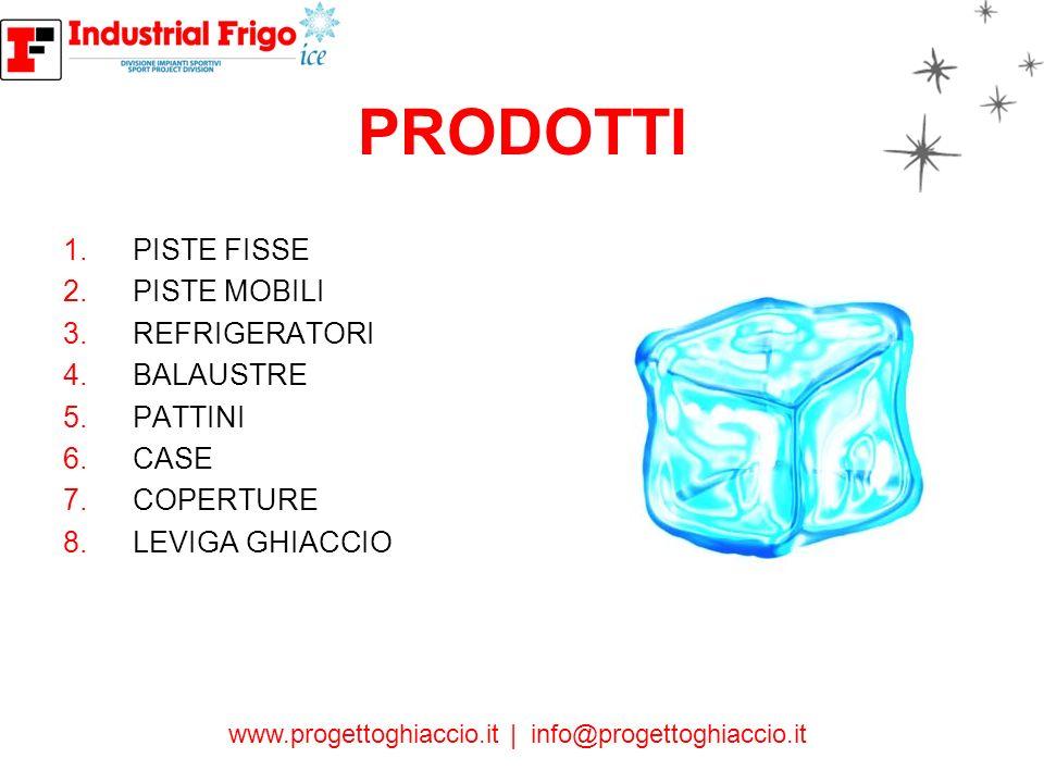 PRODOTTI PISTE FISSE PISTE MOBILI REFRIGERATORI BALAUSTRE PATTINI CASE