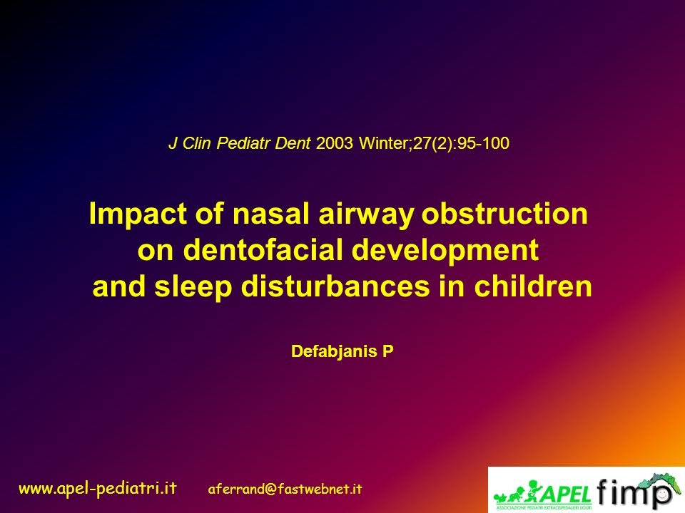 Impact of nasal airway obstruction on dentofacial development