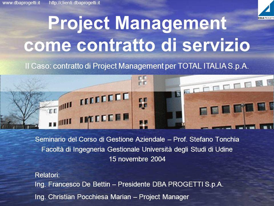 Project Management come contratto di servizio