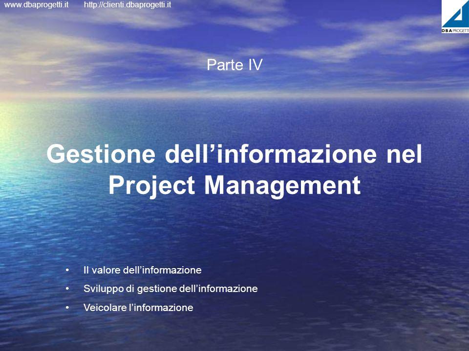 Gestione dell'informazione nel Project Management