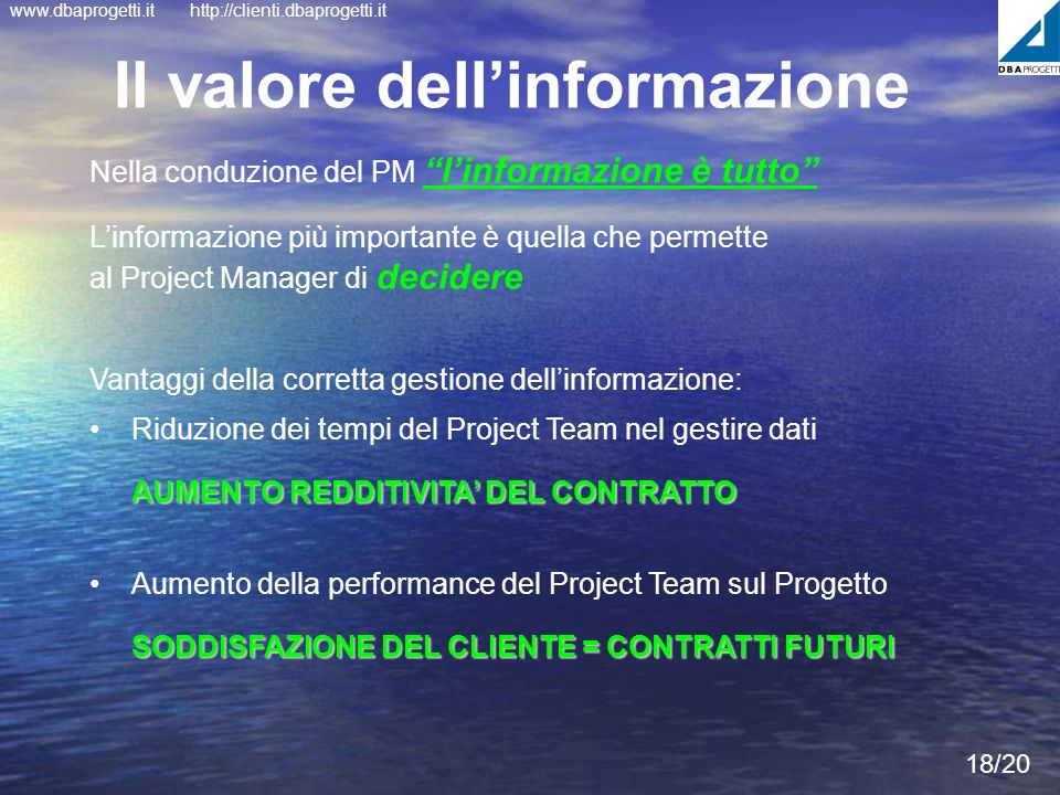 Il valore dell'informazione
