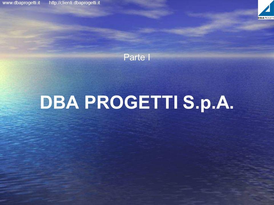 Parte I DBA PROGETTI S.p.A.