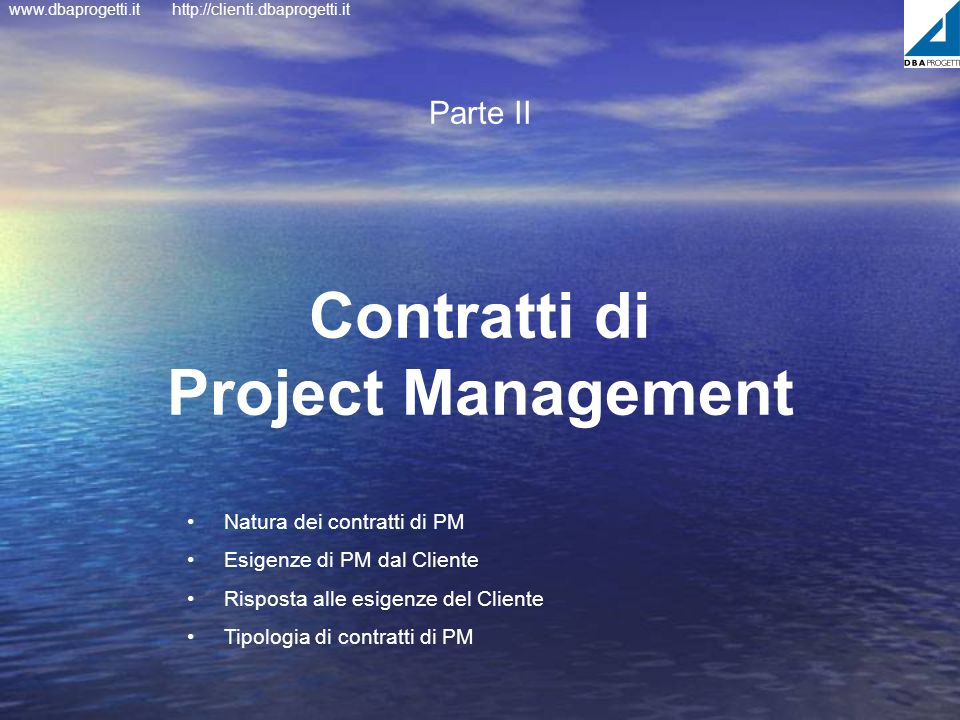 Contratti di Project Management