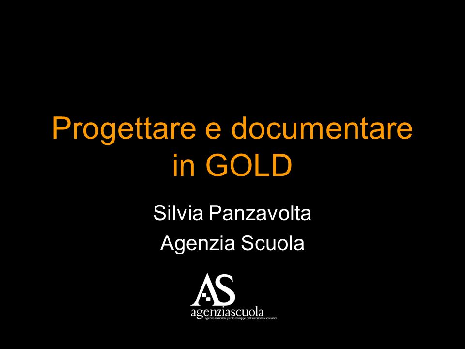 Progettare e documentare in GOLD