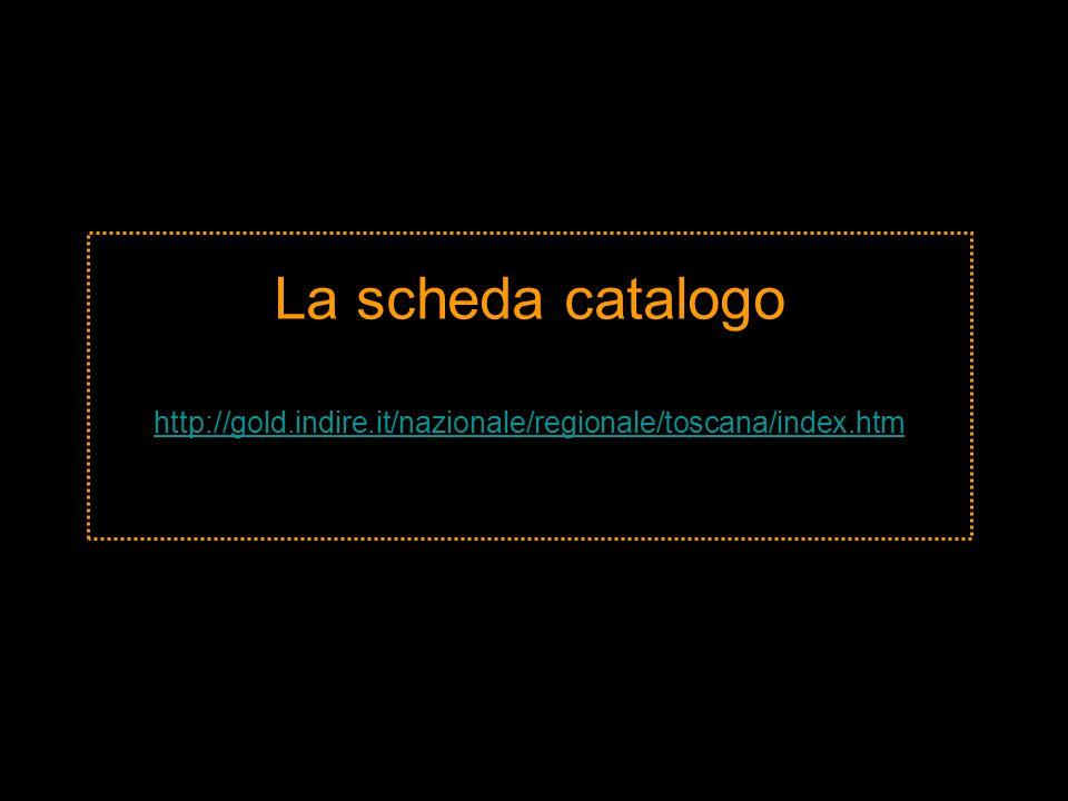 La scheda catalogo http://gold. indire