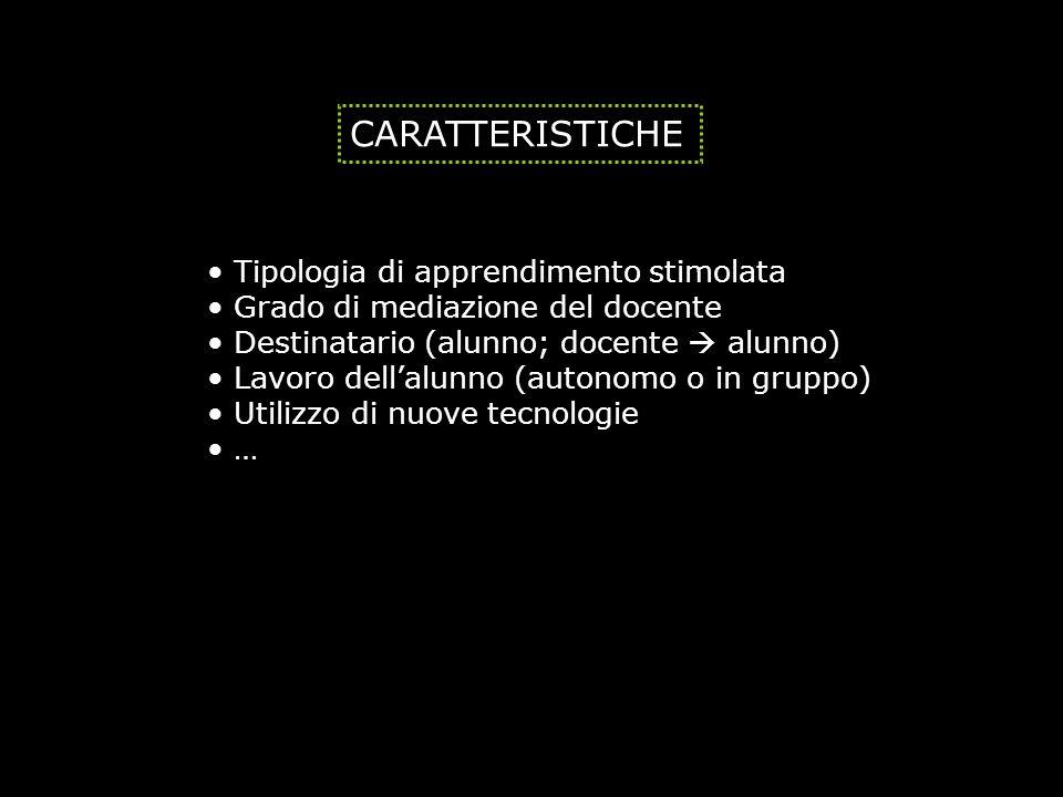 CARATTERISTICHE Tipologia di apprendimento stimolata