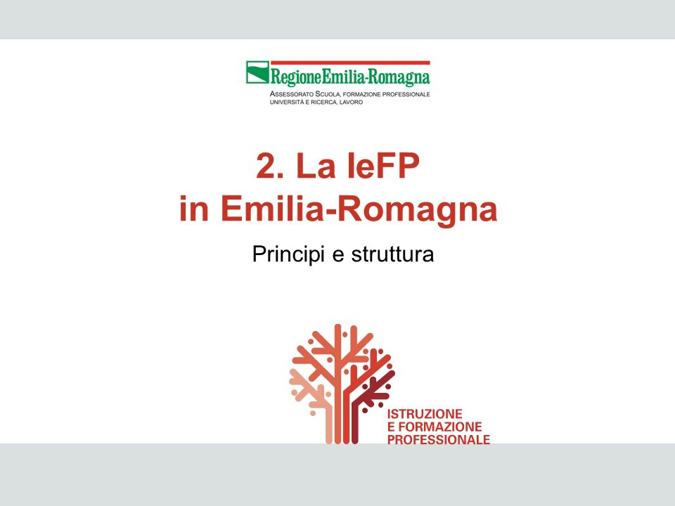 2. La IeFP in Emilia-Romagna
