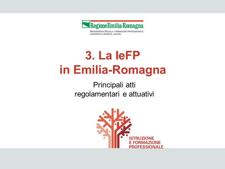 3. La IeFP in Emilia-Romagna