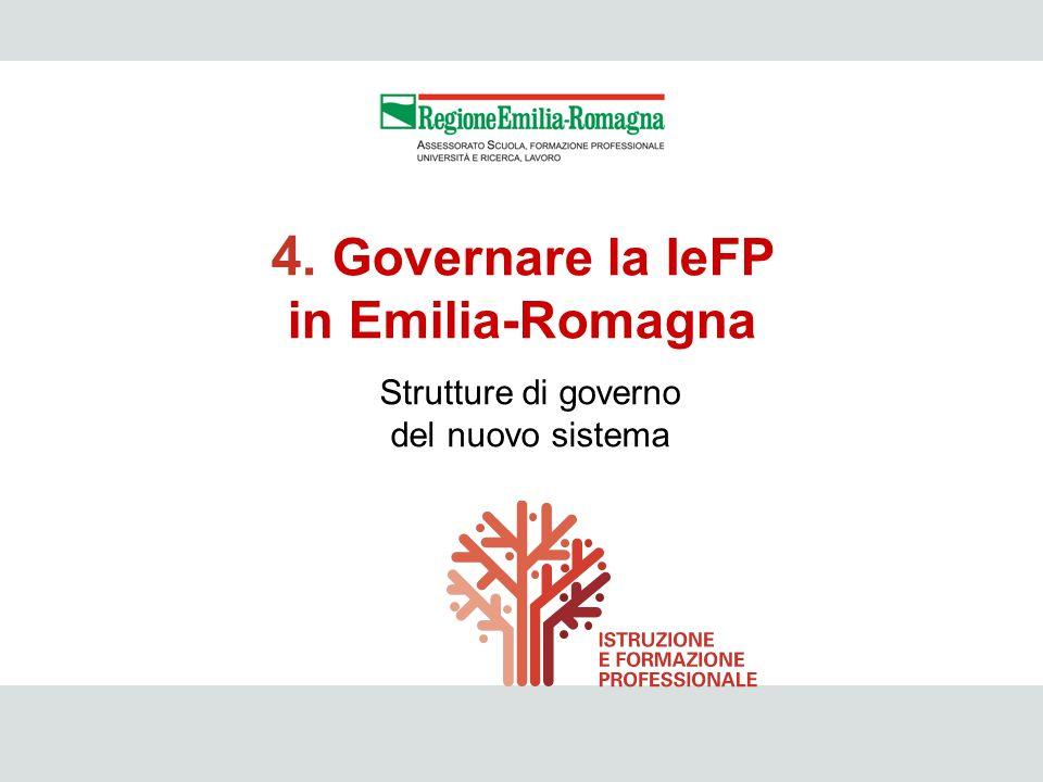 4. Governare la IeFP in Emilia-Romagna