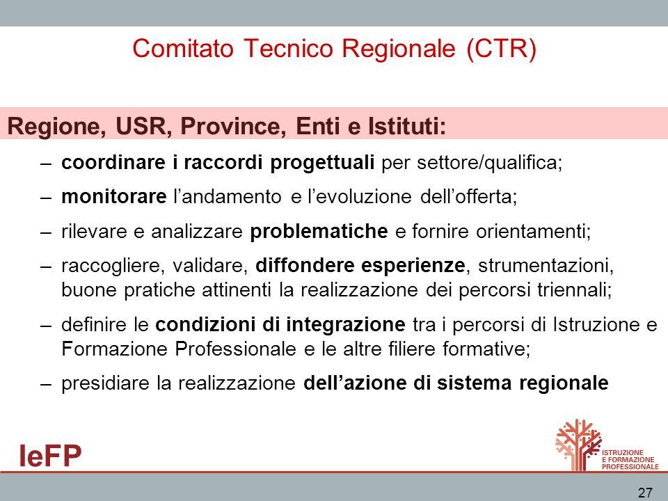 Comitato Tecnico Regionale (CTR)
