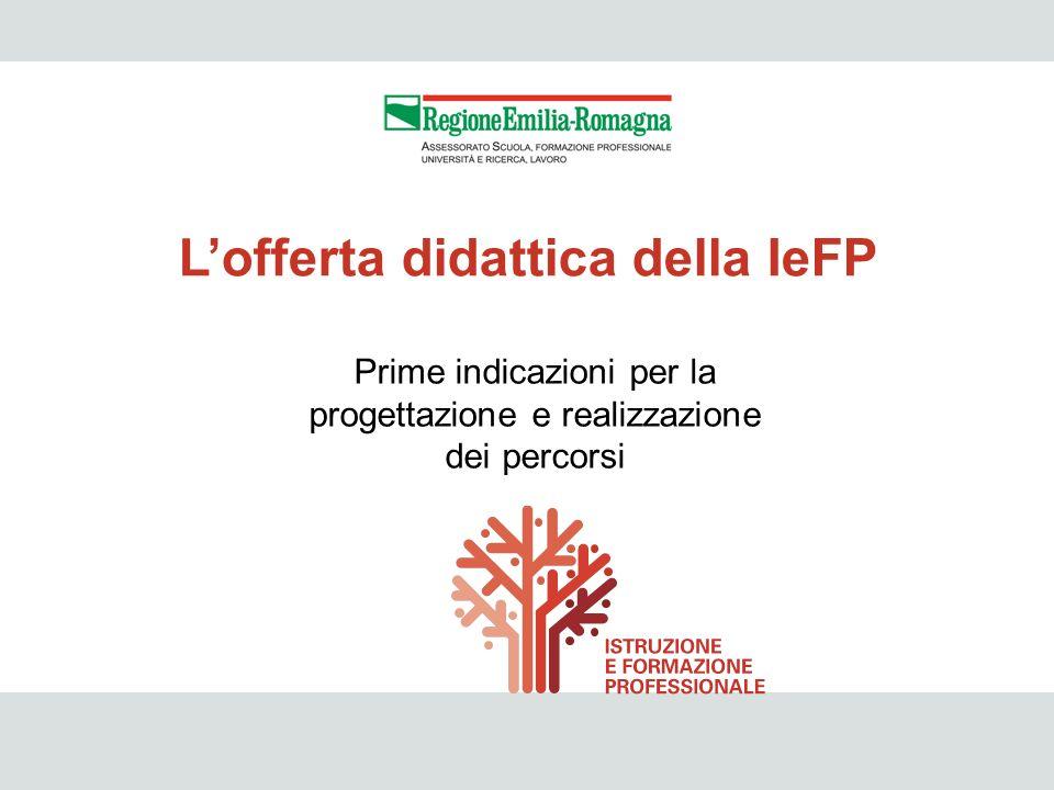 L'offerta didattica della IeFP