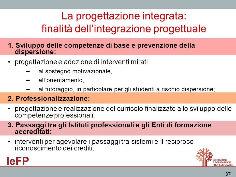 La progettazione integrata: finalità dell'integrazione progettuale