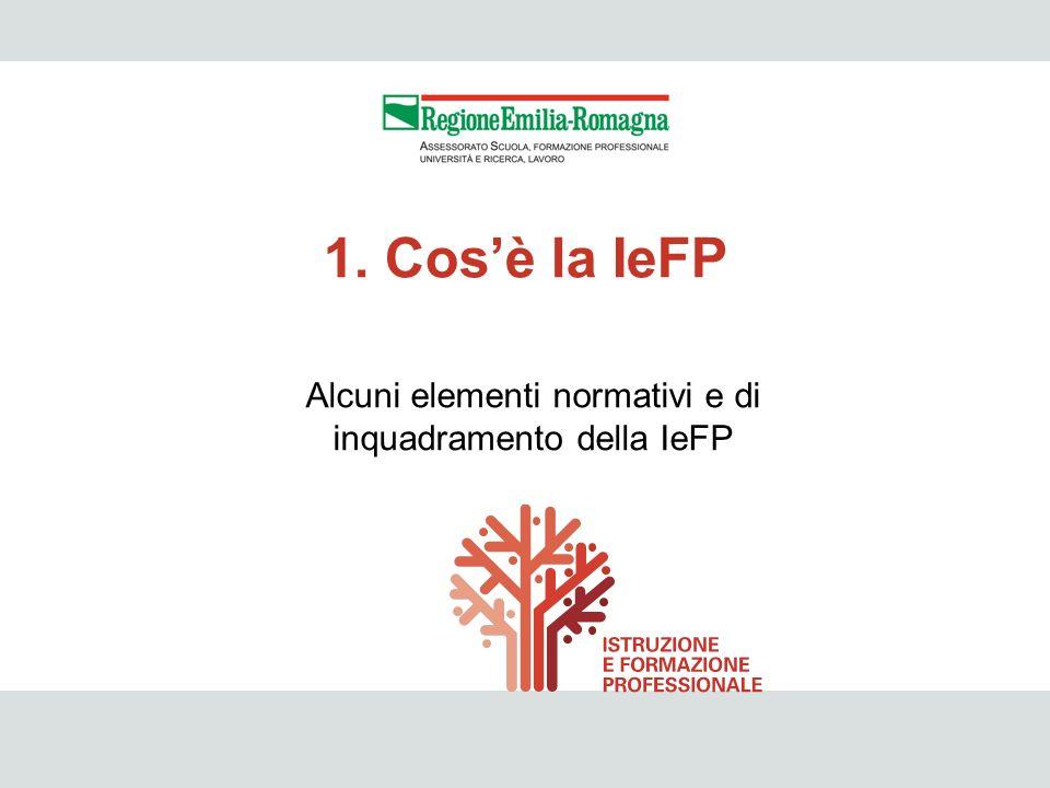 Alcuni elementi normativi e di inquadramento della IeFP