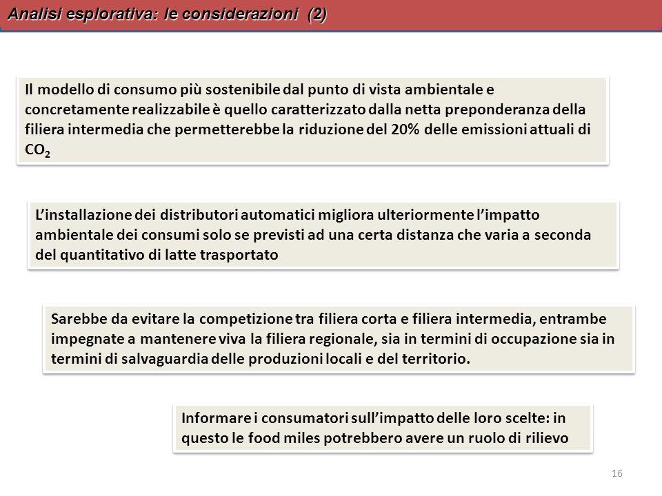 Analisi esplorativa: le considerazioni (2)
